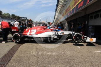 World © Octane Photographic Ltd. Formula 1 – German GP - Paddock. Alfa Romeo Racing C38 – Kimi Raikkonen. Hockenheimring, Hockenheim, Germany. Thursday 25th July 2019.