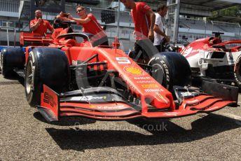 World © Octane Photographic Ltd. Formula 1 – German GP - Paddock. Scuderia Ferrari SF90. Hockenheimring, Hockenheim, Germany. Thursday 25th July 2019.