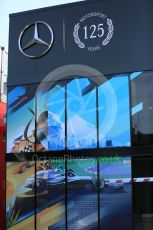 World © Octane Photographic Ltd. Formula 1 – German GP - Paddock. 125 years of Mercedes motorsport. Hockenheimring, Hockenheim, Germany. Thursday 25th July 2019.