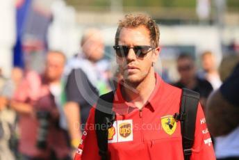 World © Octane Photographic Ltd. Formula 1 – German GP - Paddock. Scuderia Ferrari SF90 – Sebastian Vettel. Hockenheimring, Hockenheim, Germany. Thursday 25th July 2019.