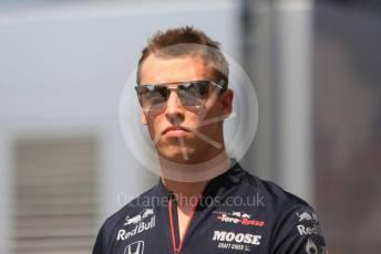 World © Octane Photographic Ltd. Formula 1 – German GP - Paddock. Scuderia Toro Rosso STR14 – Daniil Kvyat. Hockenheimring, Hockenheim, Germany. Thursday 25th July 2019.