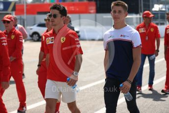 World © Octane Photographic Ltd. Formula 1 – German GP  - Track walk. Scuderia Ferrari SF90 – Charles Leclerc and brother Arthur Leclerc. Hockenheimring, Hockenheim, Germany. Thursday 25th July 2019.