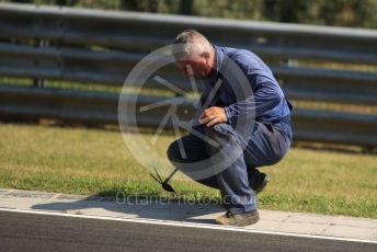 World © Octane Photographic Ltd. Formula 1 - Hungarian GP - Setup. Track cleaning. Hungaroring, Budapest, Hungary. Thursday 1st August 2019.