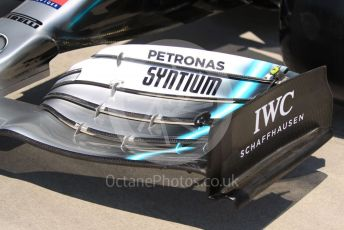 World © Octane Photographic Ltd. Formula 1 – Hungarian GP - Pitlane. Mercedes AMG Petronas Motorsport AMG F1 W10 EQ Power+. Hungaroring, Budapest, Hungary. Thursday 1st August 2019.