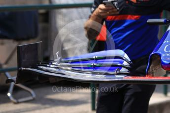World © Octane Photographic Ltd. Formula 1 – Hungarian GP - Pitlane. Scuderia Toro Rosso STR14. Hungaroring, Budapest, Hungary. Thursday 1st August 2019.