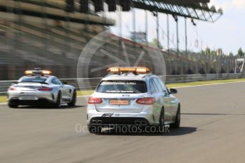 World © Octane Photographic Ltd. Formula 1 – Hungarian GP - Pitlane. Mercedes AMG GTs Safety Car and AMG E63 medical Car. Hungaroring, Budapest, Hungary. Thursday 1st August 2019.