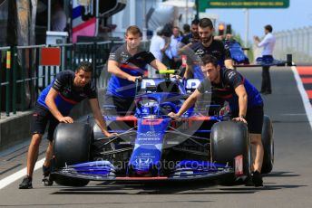 World © Octane Photographic Ltd. Formula 1 – Hungarian GP - Pitlane. Scuderia Toro Rosso STR14 – Alexander Albon. Hungaroring, Budapest, Hungary. Thursday 1st August 2019.