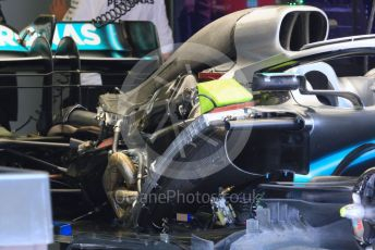 World © Octane Photographic Ltd. Formula 1 – Hungarian GP - Pitlane. Mercedes AMG Petronas Motorsport AMG F1 W10 EQ Power+ - Valtteri Bottas. Hungaroring, Budapest, Hungary. Thursday 1st August 2019.