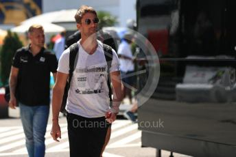 World © Octane Photographic Ltd. Formula 1 – Hungarian GP - Paddock. Rich Energy Haas F1 Team VF19 – Romain Grosjean. Hungaroring, Budapest, Hungary. Thursday 1st August 2019.