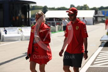 World © Octane Photographic Ltd. Formula 1 – Hungarian GP - Paddock. Scuderia Ferrari SF90 – Sebastian Vettel. Hungaroring, Budapest, Hungary. Thursday 1st August 2019.
