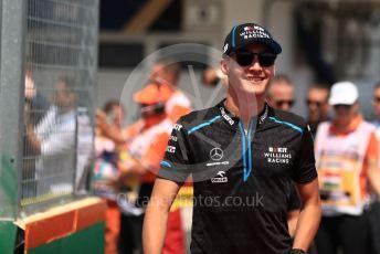 World © Octane Photographic Ltd. Formula 1 – Hungarian GP - Drivers Parade. ROKiT Williams Racing FW 42 – George Russell. Hungaroring, Budapest, Hungary. Sunday 4th August 2019.