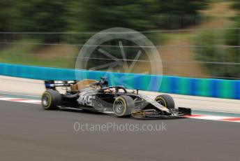 World © Octane Photographic Ltd. Formula 1 – Hungarian GP - Practice 2. Rich Energy Haas F1 Team VF19 – Romain Grosjean. Hungaroring, Budapest, Hungary. Friday 2nd August 2019.