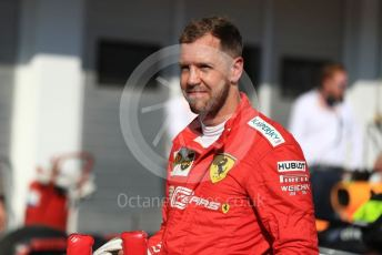 World © Octane Photographic Ltd. Formula 1 – Hungarian GP - Parc Ferme. Scuderia Ferrari SF90 – Sebastian Vettel. Hungaroring, Budapest, Hungary. Sunday 4th August 2019.