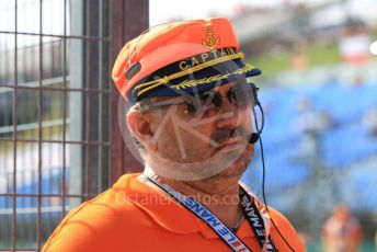World © Octane Photographic Ltd. FIA Formula 2 (F2) – Hungarian GP - Race 1. Marshal in Captain's hat. Hungaroring, Budapest, Hungary. Saturday 3rd August 2019.