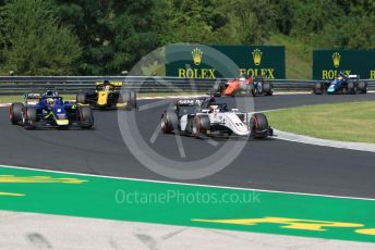 World © Octane Photographic Ltd. FIA Formula 2 (F2) – Hungarian GP - Race 1. Sauber Junior Team - Callum Ilott and Carlin - Louis Deletraz. Hungaroring, Budapest, Hungary. Saturday 3rd August 2019.