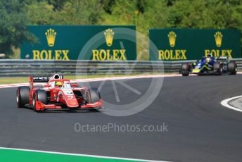 World © Octane Photographic Ltd. FIA Formula 2 (F2) – Hungarian GP - Race 1. Prema Racing – Mick Schumacher and Carlin - Louis Deletraz. Hungaroring, Budapest, Hungary. Saturday 3rd August 2019.