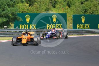 World © Octane Photographic Ltd. FIA Formula 2 (F2) – Hungarian GP - Race 1. Campos Racing – Arjin Maini and Trident - Ralph Boschung. Hungaroring, Budapest, Hungary. Saturday 3rd August 2019.