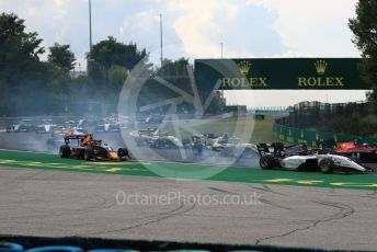 World © Octane Photographic Ltd. FIA Formula 3 (F3) – Hungarian GP – Race 1. Sauber Junior Team by Charouz - Raoul Hyman and MP Motorsport - Liam Lawson. Hungaroring, Budapest, Hungary. Saturday 3rd August 2019.