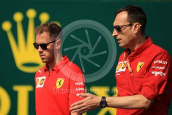 World © Octane Photographic Ltd. Formula 1 – Hungarian GP - Trackwalk. Scuderia Ferrari SF90 – Sebastian Vettel. Hungaroring, Budapest, Hungary. Thursday 1st August 2019.