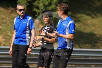 World © Octane Photographic Ltd. FIA Formula 2 (F2) – Hungarian GP - Trackwalk. Carlin - Nobuharu Matsushita. Hungaroring, Budapest, Hungary. Thursday 1st August 2019.