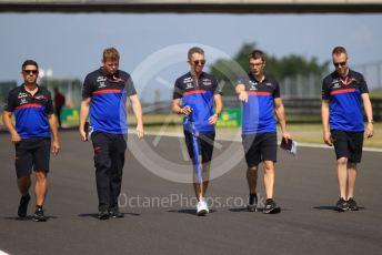 World © Octane Photographic Ltd. Formula 1 – Hungarian GP - Trackwalk. Scuderia Toro Rosso STR14 – Alexander Albon. Hungaroring, Budapest, Hungary. Thursday 1st August 2019.
