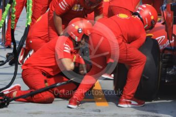 World © Octane Photographic Ltd. Formula 1 – Hungarian GP - Setup. Scuderia Ferrari SF90 pitstop practice. Hungaroring, Budapest, Hungary. Saturday 3rd August 2019.