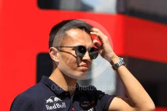 World © Octane Photographic Ltd. Formula 1 – Hungarian GP - Paddock. Scuderia Toro Rosso STR14 – Alexander Albon. Hungaroring, Budapest, Hungary. Sunday 4th August 2019.