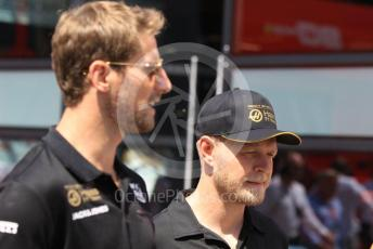 World © Octane Photographic Ltd. Formula 1 – Hungarian GP - Paddock. Rich Energy Haas F1 Team VF19 – Romain Grosjean and Kevin Magnussen. Hungaroring, Budapest, Hungary. Sunday 4th August 2019.