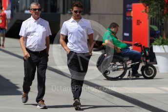 World © Octane Photographic Ltd. Formula 1 – Hungarian GP - Paddock. McLaren MCL34 – Lando Norris. Hungaroring, Budapest, Hungary. Sunday 4th August 2019.