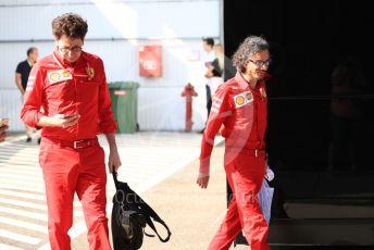 World © Octane Photographic Ltd. Formula 1 - Hungarian GP - Paddock. Mattia Binotto – Team Principal of Scuderia Ferrari and Laurent Mekies – Sporting Director of Scuderia Ferrari. Hungaroring, Budapest, Hungary. Sunday 4th August 2019.
