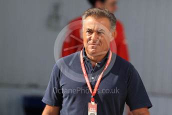 World © Octane Photographic Ltd. Formula 1 - Hungarian GP - Paddock. Jean Alesi. Hungaroring, Budapest, Hungary. Sunday 4th August 2019.