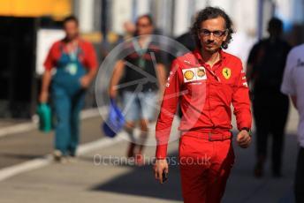World © Octane Photographic Ltd. Formula 1 - Hungarian GP - Paddock. Laurent Mekies – Sporting Director of Scuderia Ferrari. Hungaroring, Budapest, Hungary. Sunday 4th August 2019.