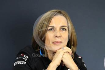 World © Octane Photographic Ltd. Formula 1 - Hungarian GP – Friday FIA Team Press Conference. Claire Williams - Deputy Team Principal of ROKiT Williams Racing. Hungaroring, Budapest, Hungary. Friday 2nd August 2019.