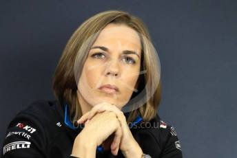 World © Octane Photographic Ltd. Formula 1 - Hungarian GP – Friday FIA Team Press Conference. Claire Williams - Deputy Team Principal of ROKiT Williams Racing. Hungaroring, Budapest, Hungary. Friday 2nd August 2019.