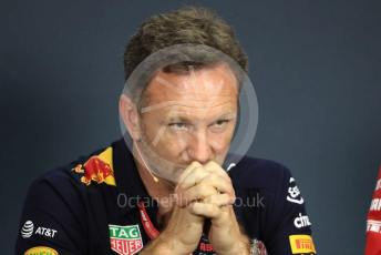 World © Octane Photographic Ltd. Formula 1 - Hungarian GP – Friday FIA Team Press Conference. Christian Horner - Team Principal of Red Bull Racing. Hungaroring, Budapest, Hungary. Friday 2nd August 2019.