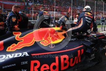 World © Octane Photographic Ltd. Formula 1 – Italian GP - Grid. Aston Martin Red Bull Racing RB15 – Max Verstappen. Autodromo Nazionale Monza, Monza, Italy. Sunday 8th September 2019.
