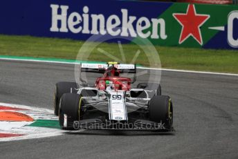 World © Octane Photographic Ltd. Formula 1 – Italian GP - Practice 2. Alfa Romeo Racing C38 – Antonio Giovinazzi. Autodromo Nazionale Monza, Monza, Italy. Friday 6th September 2019.