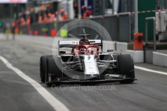 World © Octane Photographic Ltd. Formula 1 – Italian GP - Practice 2. Alfa Romeo Racing C38 – Kimi Raikkonen. Autodromo Nazionale Monza, Monza, Italy. Friday 6th September 2019.