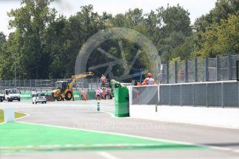 World © Octane Photographic Ltd. Formula 1 – Italian GP - Practice 3 Track repairs. Autodromo Nazionale Monza, Monza, Italy. Saturday 7th September 2019.