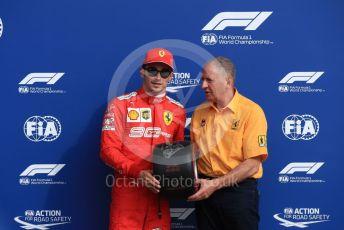 World © Octane Photographic Ltd. Formula 1 – Italian GP - Qualifying. Scuderia Ferrari SF90 – Charles Leclerc and Jody Scheckter. Autodromo Nazionale Monza, Monza, Italy. Saturday 7th September 2019.
