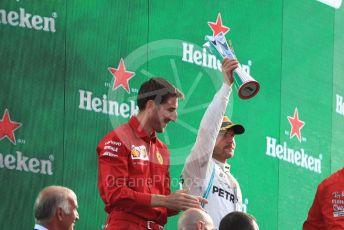 World © Octane Photographic Ltd. Formula 1 – Italian GP - Race Podium. Mercedes AMG Petronas Motorsport AMG F1 W10 EQ Power+ - Valtteri Bottas. Autodromo Nazionale Monza, Monza, Italy. Sunday 8th September 2019.