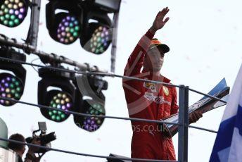 World © Octane Photographic Ltd. Formula 1 – Italian GP - Race Podium. Scuderia Ferrari SF90 – Charles Leclerc. Autodromo Nazionale Monza, Monza, Italy. Sunday 8th September 2019.