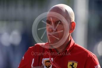 World © Octane Photographic Ltd. Formula 1 - Italian GP - Paddock. Jock Clear – Chief Engineer - Scuderia Ferrari. Autodromo Nazionale Monza, Monza, Italy. Sunday 8th September 2019.