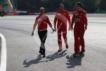 World © Octane Photographic Ltd. Formula 1 – Italian GP - Track walk. Scuderia Ferrari SF90 – Sebastian Vettel. Autodromo Nazionale Monza, Monza, Italy. Thursday 4th September 2019.