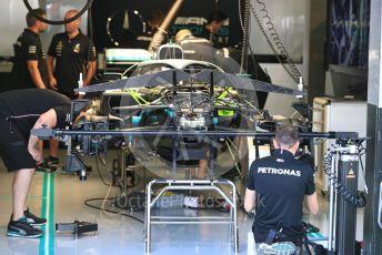 World © Octane Photographic Ltd. Formula 1 – Italian GP - Pit Lane. Mercedes AMG Petronas Motorsport AMG F1 W10 EQ Power+. Autodromo Nazionale Monza, Monza, Italy. Thursday 4th September 2019.