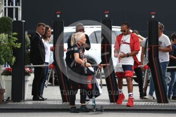 World © Octane Photographic Ltd. Formula 1 – Italian GP - Paddock. Mercedes AMG Petronas Motorsport AMG F1 W10 EQ Power+ - Lewis Hamilton. Autodromo Nazionale Monza, Monza, Italy. Thursday 4th September 2019.