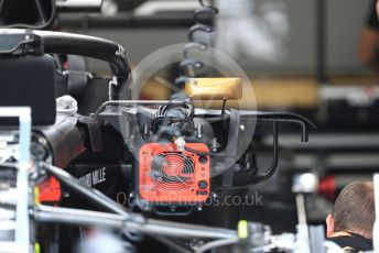 World © Octane Photographic Ltd. Formula 1 – Italian GP - Pit lane. Rich Energy Haas F1 Team VF19. Autodromo Nazionale Monza, Monza, Italy. Thursday 4th September 2019.
