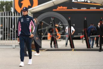 World © Octane Photographic Ltd. Formula 1 – Italian GP - Paddock. SportPesa Racing Point RP19 – Lance Stroll. Autodromo Nazionale Monza, Monza, Italy. Friday 6th September 2019.