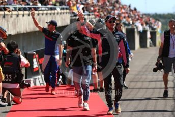 World © Octane Photographic Ltd. Formula 1 – Japanese GP - Drivers' Parade. SportPesa Racing Point RP19 - Sergio Perez. Suzuka Circuit, Suzuka, Japan. Sunday 13th October 2019.