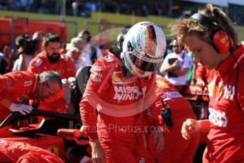 World © Octane Photographic Ltd. Formula 1 – Japanese GP - Grid. Scuderia Ferrari SF90 – Sebastian Vettel. Suzuka Circuit, Suzuka, Japan. Sunday 13th October 2019.